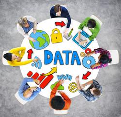 Data Information Media Internet Online Computer People Concept