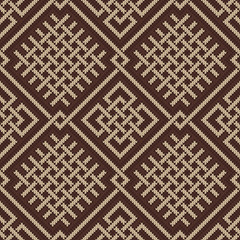 Celtic Plexus Design Pattern. Knitted Wool Seamless Background
