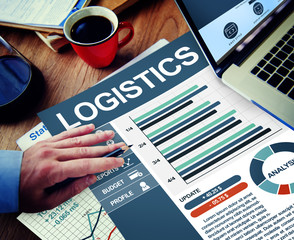 Logistics Businessman Working Calculating Thinking Concept