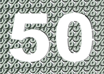 beyaz renkli % 50