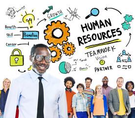 Human Resources Employment Job Teamwork People Concept