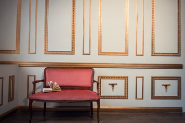 Classic interior with barocco couch