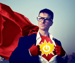 Power Strong Superhero Success Professional Empowerment Concept