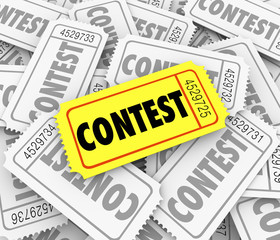 Contest Word Ticket Pile Win Raffle Fund Raiser Prize Drawing