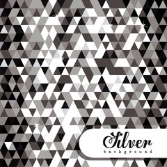 Silver design, vector illustration.