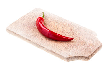 Chili pepper on a cutting board