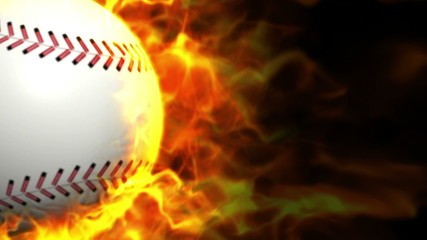 Fiery Baseball Ball Background