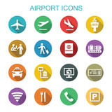 Fototapety airport long shadow icons