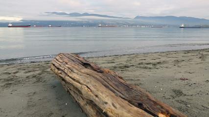 English Bay Vancouver, Morning dolly shot