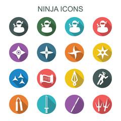 ninja long shadow icons
