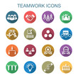 teamwork long shadow icons - 76286877
