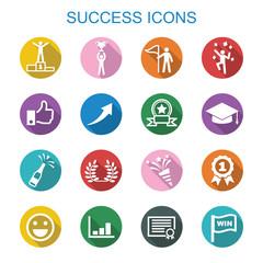 success long shadow icons