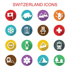 switzerland long shadow icons