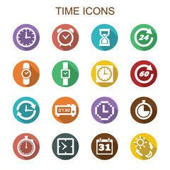 time long shadow icons