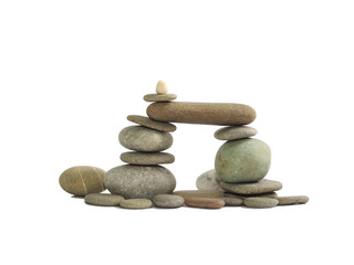 the composition of the stone pebbles, isolated