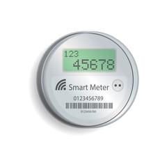 smart meter illustration, vector