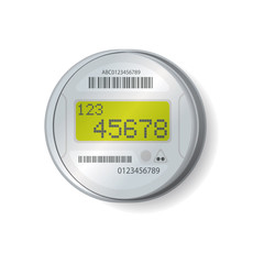 Smart meter illustration, vector