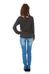 Woman standing backside