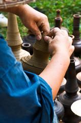 Folk Crafts of molding pottery.