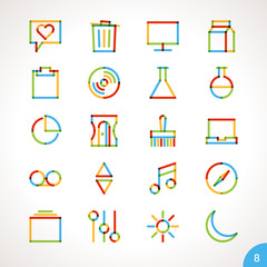Vector Highlighter Line Icons for any purpose Set 8