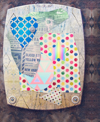 Vintage patchwork - collage background