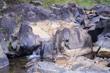 close up of a creek