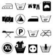 laundry icons set - 76289833