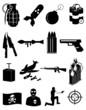 Terrorism icons set - 76290073