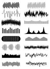 Sound wave icons set