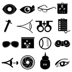 Eye care icons set