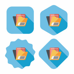 folder flat icon with long shadow,eps10