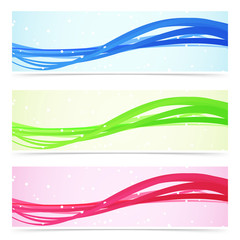 Web speed line colorful banner collection