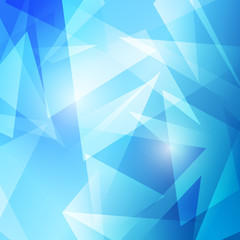 Triangles abstract blue modern background