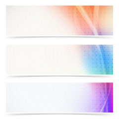 Web header abstract wave line collection