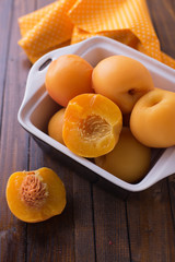 Stewed peaches