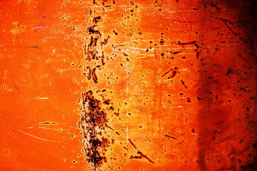 rusty metallic background with shabby and old paint