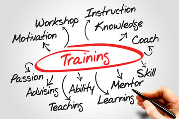 Training diagram chart, business concept