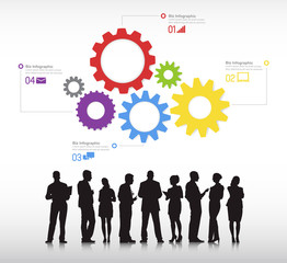 Business Infographic Community Discussion Vector Concept