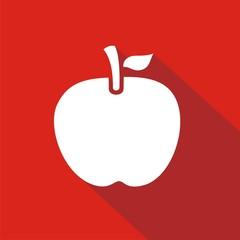 Icono manzana roja sombra