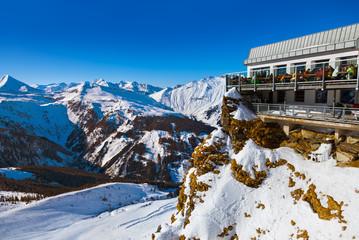 Cafe at Mountains ski resort Bad Gastein - Austria