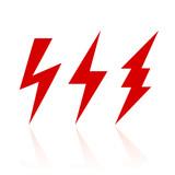 Fototapety Lightning bolt icon