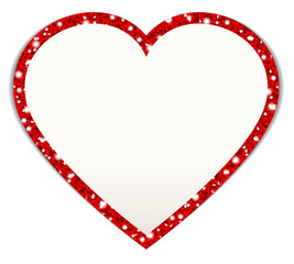 Red Heart Glitter Frame