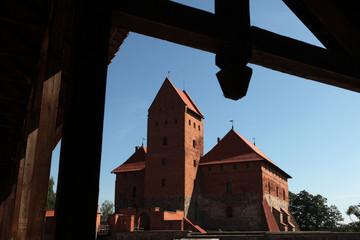 Trakai Castle near Vilnius, Lithuania.