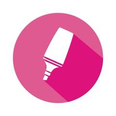 Icono marcador rosa botón sombra