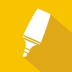 Icono marcador amarillo sombra