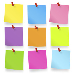 Colored pieces Blank Notes Adhesive Reminder Concept