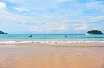 Kata beach on Phuket in Thailand