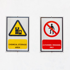 safety signs broad on white background