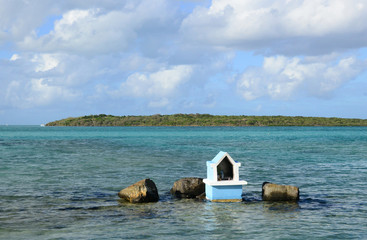 Africa,  picturesque aera of Blue Bay near Mahebourg