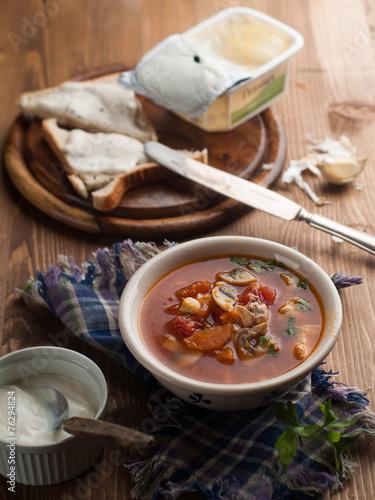 canvas print picture Vegetable soup